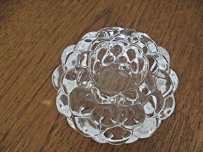 Orrefors Glass Candle Holder Raspberry Pattern By Anne Nilsson Signed Orrefors