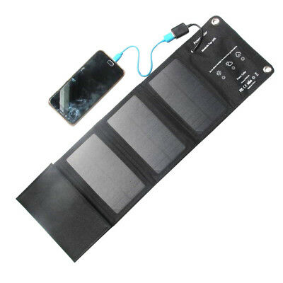 Solar Portable Charging Panel Charger 5V 10W Foldable Charging Pad Outdoor