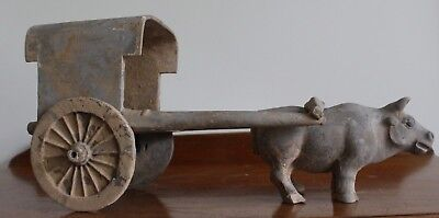 A  Han Dynasty Oxen And Cart With Oxford Authentication Tl Test