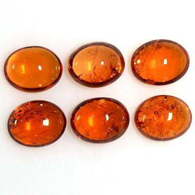 15.19 Cts Natural Fanta Orange Mandarin Spessartite Garnet Oval Cab Lot Namibia