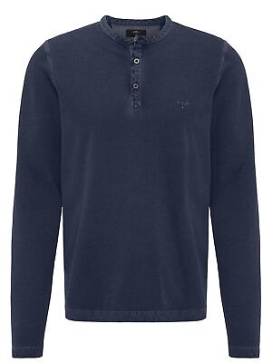 FYNCH HATTON® Henley Sweat Top/Night - Large New AW18