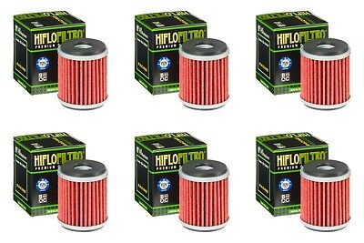 Yamaha YZF 250 2009 - 2019 Oil Filter Set HiFlofiltro HF140 Pack of 6