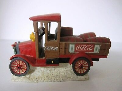 1993 Coca Cola Town Square Collection Model T Truck With Red Barrels