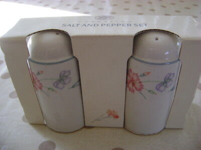 Boots Carnation Unused Salt And Pepper   Boxed