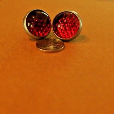Vintage Red Glass Reflector for Harleys and Others NOS Red Fox Enterprises