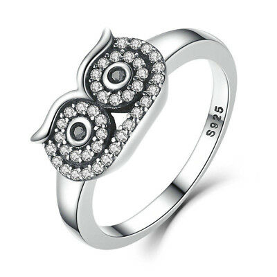 Vintage Ancient Alloy Owl Animal Ring Women Punk Style Jewelry  6A