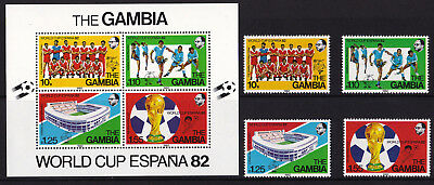 Gambia - 1982 World Cup Football - U/M - SG 471-474 + MS475