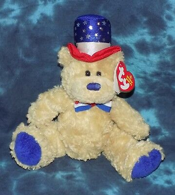 Independence BLUE 2006 TY Beanie Babie 8in Patriotic Bear - Retired & HTF Mint