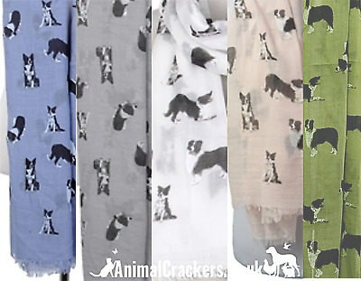 Border Collie print ladies Scarf Sarong SEE COLOUR OPTIONS Sheepdog lover gift