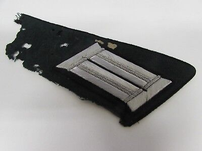 WWII German 49th engineer officer tunic removed collar insignia & shoulder board