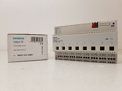 SIEMENS 5WG1512-1AB01 INSTABUS Load switch N512 EIB Load-break 8x 16A 230 VAC