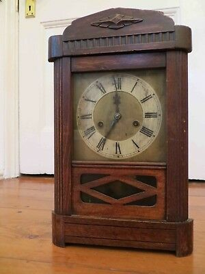 Junghans German Gong Striking Clock - 1920's - Antique Wooden Clock