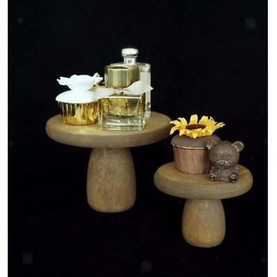 Wood Wedding Cake Stand Round Handmade Event Party Display Pedestal Plate