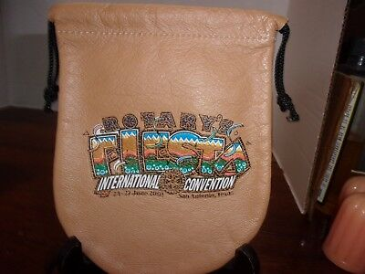 """2001 Rotary International's Convention Leather Pouch 6"""" x 5"""""""