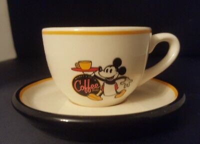 Authentic Disney Theme Parks MICKEY'S REALLY SWELL Espresso Cup & Saucer Set
