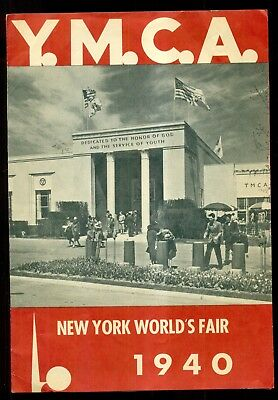 1940 New York World's Fair Y.M.C.A. Brochure with Map