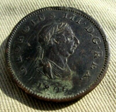 Circa 1806 King George Iii Farthing From A Commodore's Estate # 222