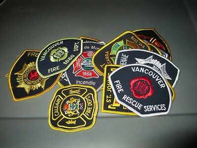 17 Different CANADA City & County Fire Rescue FIRE Dept Patches
