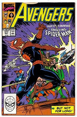Avengers #317   Fn+/ Vf- American Marvel Comics 1990 Spiderman  1