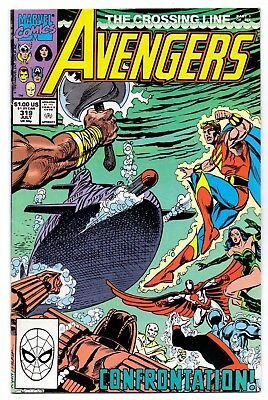Avengers #319   Fn+/ Vf- American Marvel Comics 1990 The Crossing Line  1