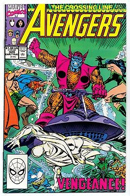 Avengers #320   Fn+/ Vf- American Marvel Comics 1990 The Crossing Line  1