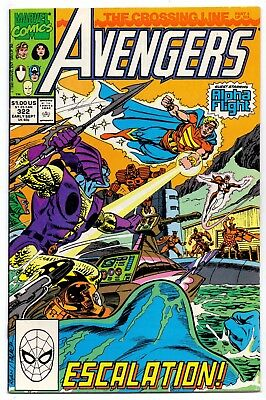 Avengers #322   Fn+/ Vf- American Marvel Comics 1990 The Crossing Line  1