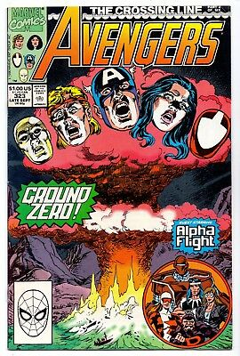 Avengers #323   Fn+/ Vf- American Marvel Comics 1990 The Crossing Line  1