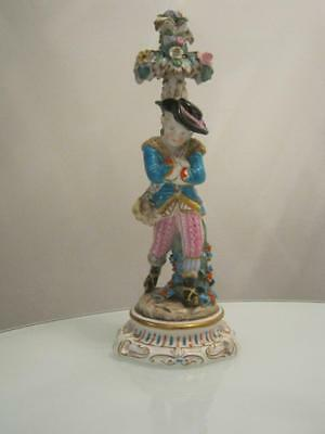 STUNNING LARGE ANTIQUE 19th CENTURY DRESDEN PORCELAIN FIGURE