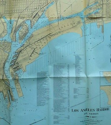 Los Angeles Harbor Annual Report July 1929 to June 1930 maps, b/w photos, tables