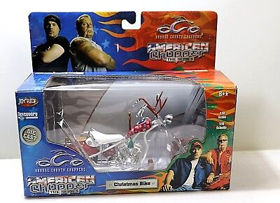 "American Chopper Die Cast Model 1:18 Scale ""Christmas Bike"" Orange County OCC"