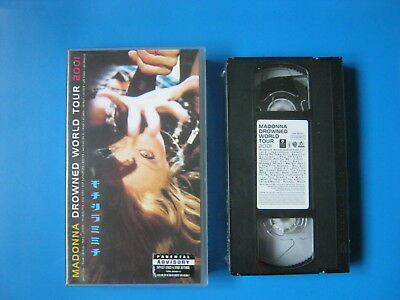 MADONNA - DROWNED WORLD TOUR 2001 - Rare Concert - NEW VHS