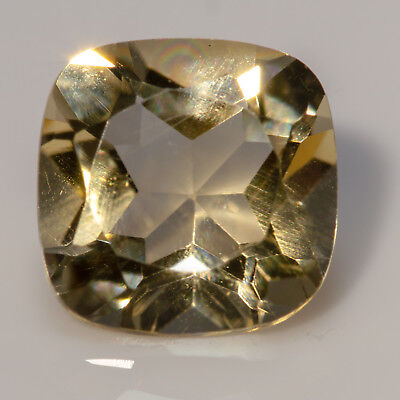 0.86 ct Citrine. A square, cushion cut, yellow gemstone. £1 No reserve auction