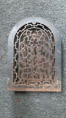Antique Cast Iron Arch top Victorian Heat Grate/vent cover w/louvers