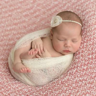 Newborn Baby Cheesecloth Swaddle Cocoon Knit Crochet Wrap Photo Photography 6A
