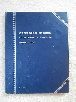 1922-1960 CANADA 5 CENT SET IN FOLDER - DOES NOT INCLUDE 1925 and 1926 FAR DATE
