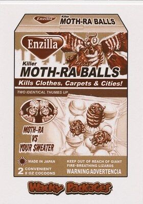 #23 MOTH-RA BALLS 2018 Wacky Packages Go Movies SEPIA SCI-FI MOTHRA GODZILLA