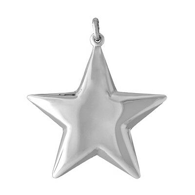 Brand New 925 Sterling Silver Christmas Tree Ornament (or Pendant) Classic Star