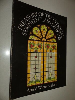 Treasury of traditional stained glass designs book Ann V Winterbotham