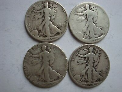 Miscellaneous Lot of Silver Coins - Worn/Damaged - No Reserve