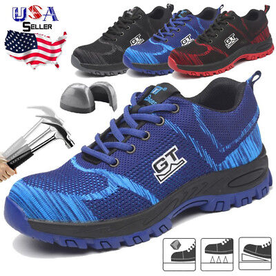 Men's Safety Work Shoes Steel Toe Boots Non-Slip Sneakers Hiking Climbing Sport