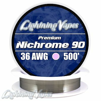 36 AWG Nichrome 90 Competition Wire 500' - N90 wire 36g GA 0.127 mm 500 ft
