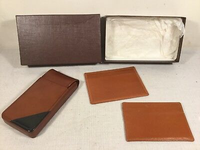 Vintage Mens / Womens Real Calf Leather Phone / Card Pouch / Wallet