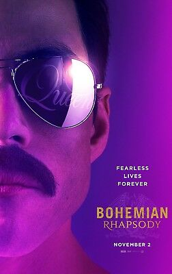 Bohemian Rhapsody Movie Poster - 4 Sizes You Choose - Freddie/queen