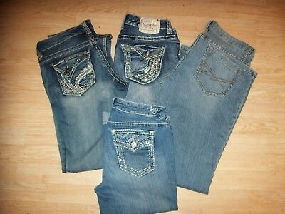 3 Pairs Of Misses Jeans And A Pair Of Capris~All Size 7/8~Ariya And Aeropostale