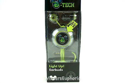 D-Tech Mickey Mouse Light Up Earbuds Earphones Wired In-Ear Stereo  3.5mm