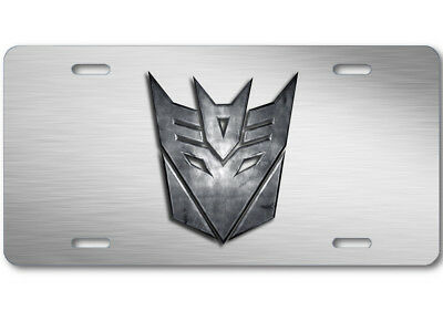 Transformers Decepticon Stone logo Aluminum Car Truck License Plate Tag Steel