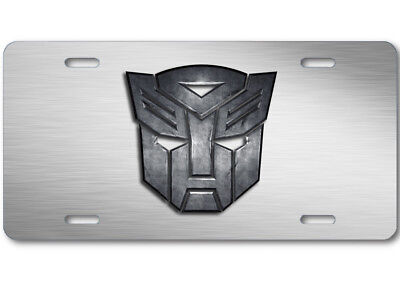 Transformers Autobot Stone logo Aluminum Car Truck License Plate Tag Steel
