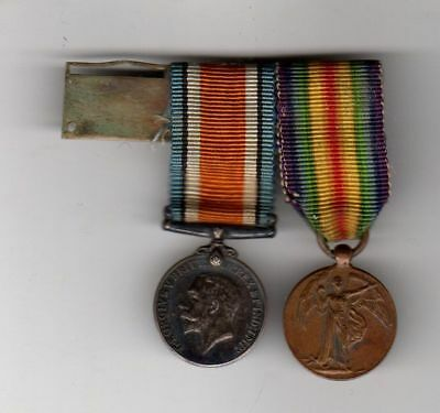 Original MINIATURE WWI Great Britain Silver Service Medal plus British Victory