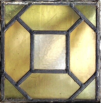"""Antique 1900's Stained Glass One English Church Window Panel. 8"""" X 8'"""