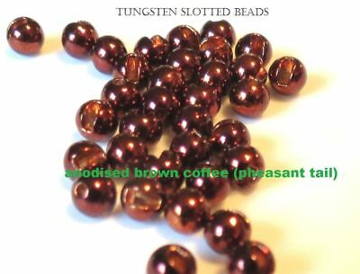 """TUNGSTEN SLOTTED FLY TYING BEADS BLACK NICKEL 2.5 MM 3//32 /"""" 100 COUNT"""
